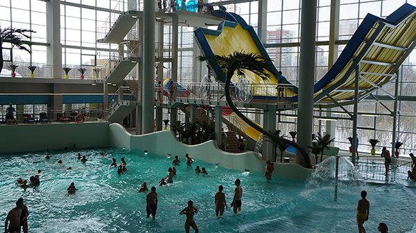 "Открытие нового аквапарка ""Мореон"" в Ясенево"